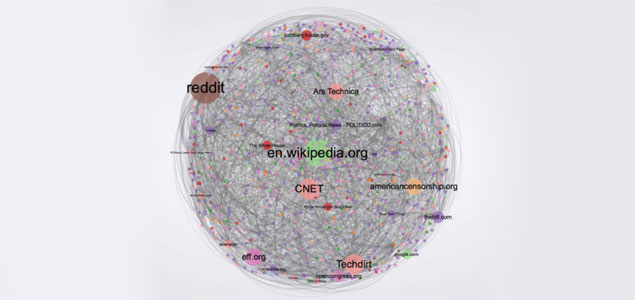 "Portada de ""Social Mobilization and the Networked Public Sphere: Mapping the SOPA-PIPA Debate"", de Yochai Benkler, Hal Roberts, Rob Faris, Alicia Solow-Niederman i Bruce Etling."