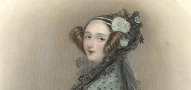 Ada Lovelace's portrait, first programmer in the history of computers.