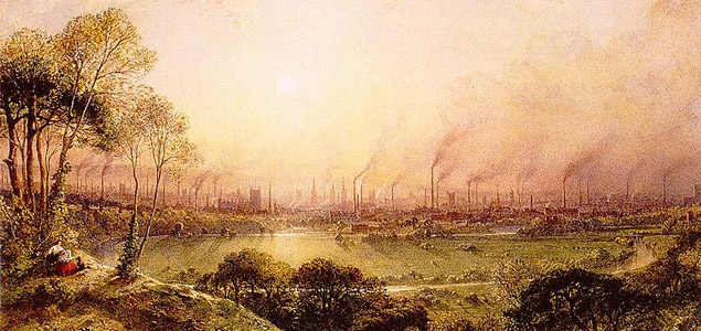 Manchester desde Kersal Moor, William Wylde (1857).