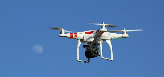 Drone with GoPro digital camera.