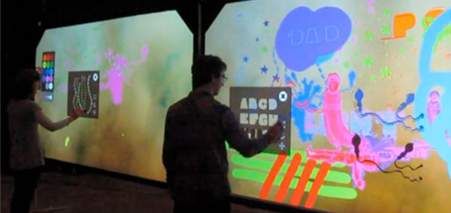 Image of the installation Digital Graffiti Wall.