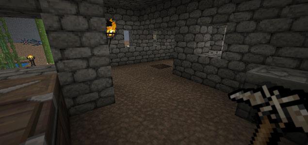 Captura del joc Minecraft.