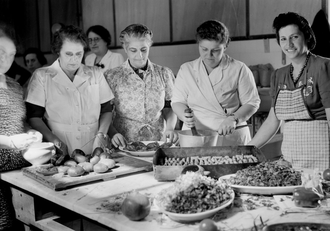 Food control. In Notre Dame kitchen. Jerusalem, 1942