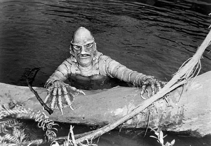 "Still from the ""Creature from the Black Lagoon"". ca 1953. Black & white photonegative, 4 x 5 in. State Archives of Florida, Florida Memory."