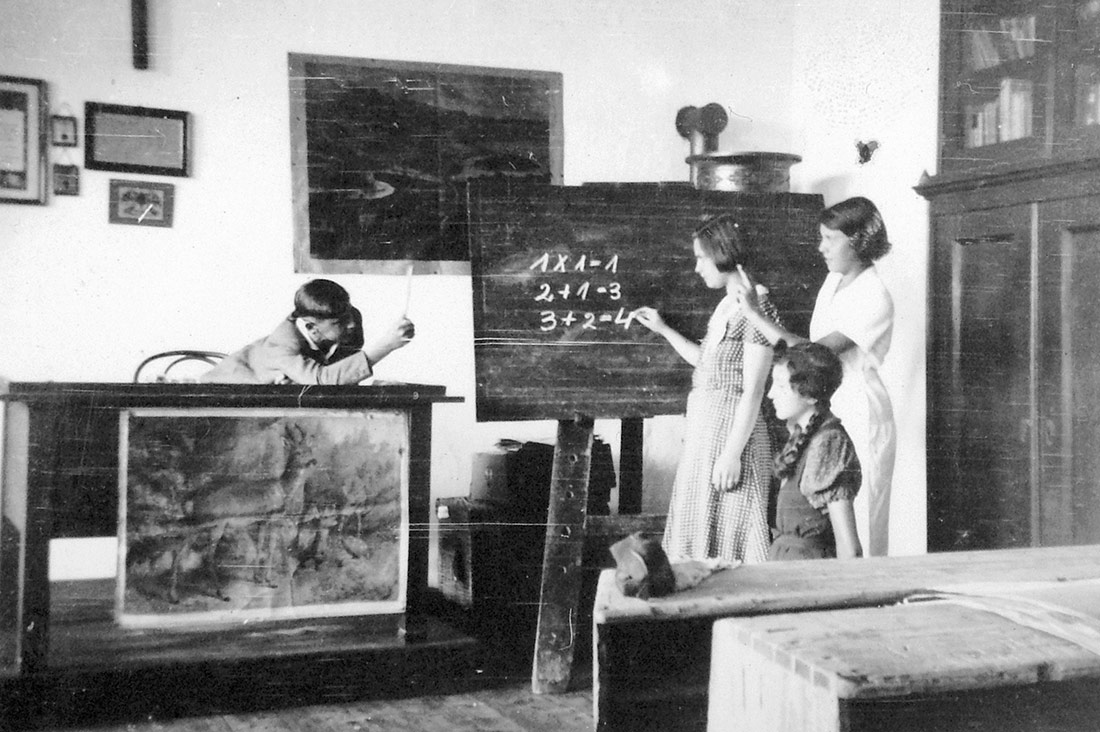 Students in a school, 1931