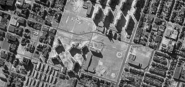 Airphoto of St. Louis, Missouri, U.S.A. Imaged March 03, 1968. Source: Wikipedia.
