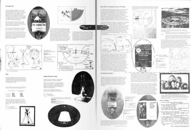 Example of a page from The Whole Earth Catalogue.