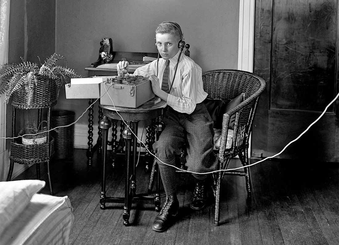 Boy with a telegraph. Washington, D.C., c. 1921