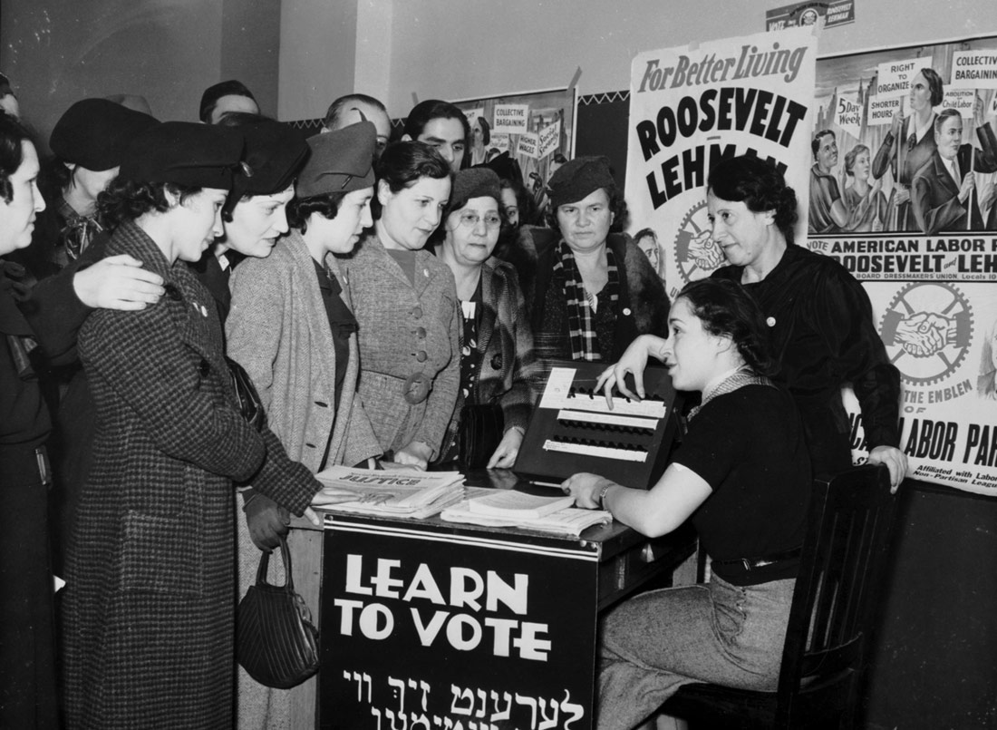 Women teach other women how to vote, 1935