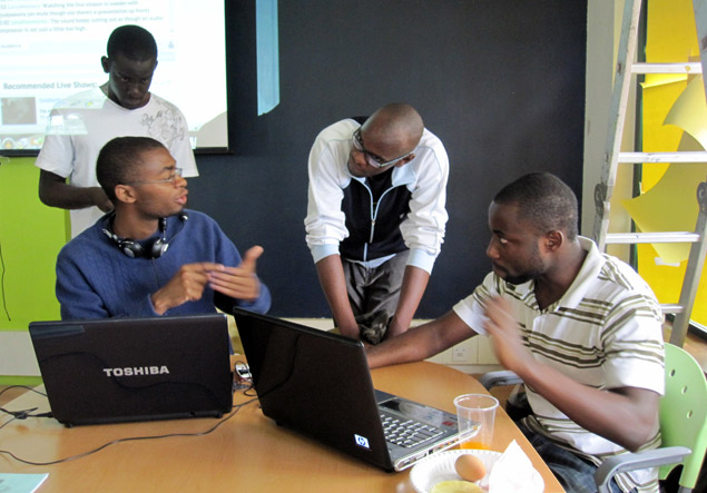 A hackathon at the iHub in Nairobi to find technological solutions to natural disasters and crises.