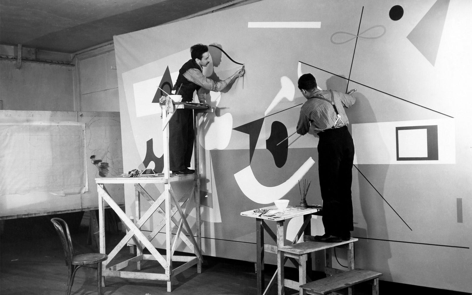 Mural de Ilya Bolotowsky para el Salón de Ciencias Médicas de la 1939 New York World 's Fair