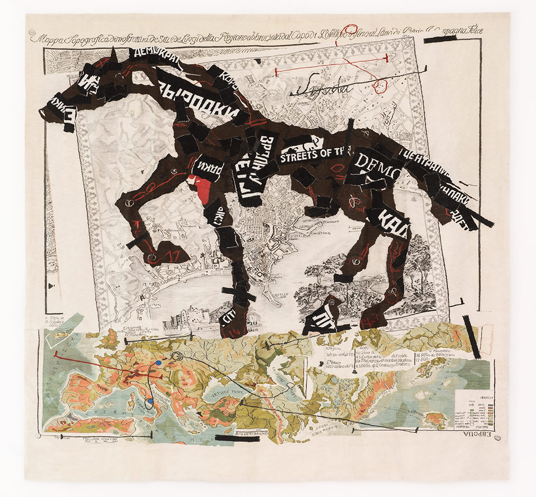 Streets of the City, 2009. William Kentridge and The Stephens Tapestry Studio | Courtesy of the artist and Goodman Gallery, Johannesburg